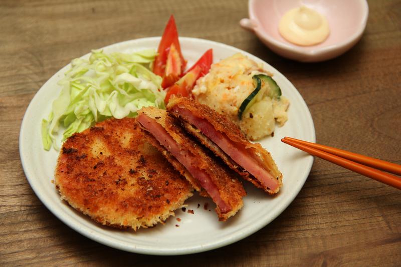 【食譜】炸火腿 馬鈴薯沙拉.深夜食堂